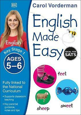 English Made Easy Ages 5-6 Key Stage 1 by Carol Vorderman Paperback Book Free Sh