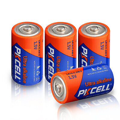 4x PKCELL C Size Industrial Alkaline Battery 1.5v LR14 EN93 AM-2  MN1400 PC1400