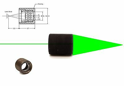 High power 520nm/532nm Laser Diode Collimating Coated Focus Lens/MP9x0.5