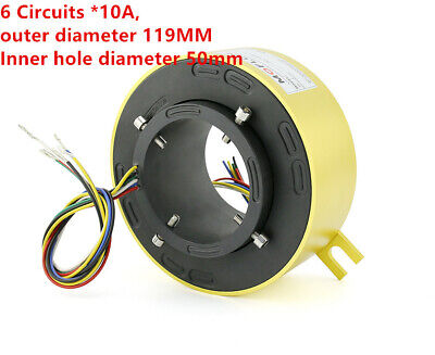 1PCS Slip Ring Through Hole Dia.50mm  6 Circuit/10A  for Wind Power Generator