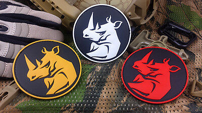 Rhino Sniper Hunter Tactical Army Morale Airsoft 3D Pvc Rubber Patch