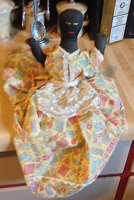 Vintage Toaster Cover - Black Mammy Doll Very Primitive