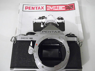 Vintage Retro Pentax Me Super 35Mm Camera Body +  Instructions