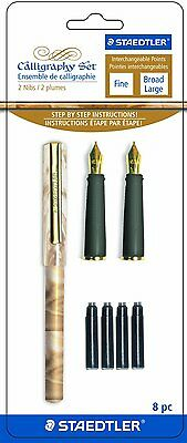 STAEDTLER Calligraphy Pen Set with 2 Nibs and Cartridges