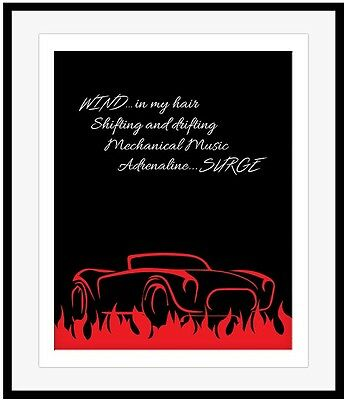 RUSH RED BARCHETTA Illustrated Song Lyrics Music Posters (PRINTS CANVAS PLAQUES)