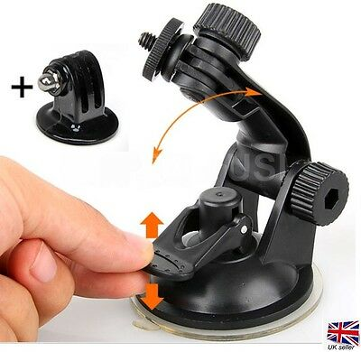 For 4GEE EE Action Cam Camera Car Holder Stand Cup Suction - HEAVY DUTY Mount