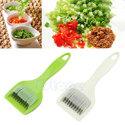 New Herb Mill Mint Cutter Roller Mince Stainless Steel Blades Kitchen Craft Tool