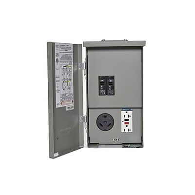 Connecticut Electric PSC-41-GR-HR 120/240V RV Panel 30A Breaker with 20 Amp GCFI