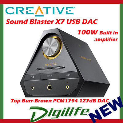Creative Sound Blaster X7 USB Soundcard & DAC for Hi Res Music headphone Amp