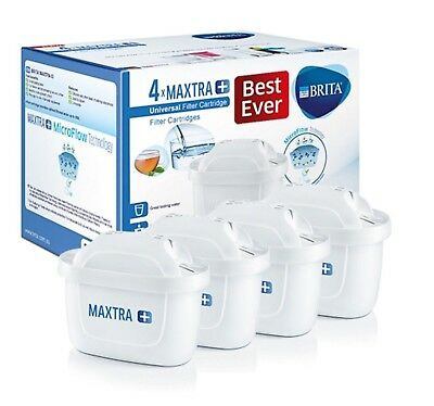 4x Pack Genuine Brita Maxtra+ Water Filter Cartdriges Vacuum Package