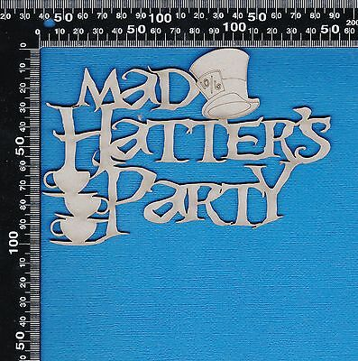 Chipboard A2Z Scraplets Alice In Wonderland themed - Mad Hatter's Tea Party