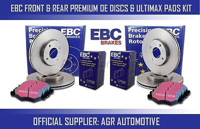 Ebc Front + Rear Discs And Pads For Seat Ibiza 1.9 Td Fr 130 Bhp 2004-08