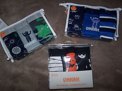 NWT Gymboree Halloween Bear Monster 3 pack BRIEF UNDERWEAR Small OR Medium