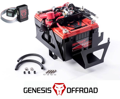 Genesis Offroad Dual Battery Kit 200 Amp Isolator & G Screen 12-18 Jeep Wrangler