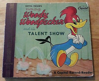 1949 Woody Woodpecker Record-Reader Animation