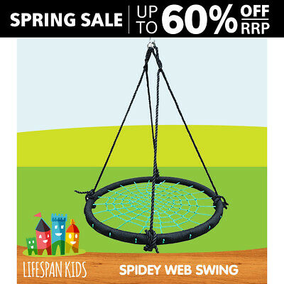 Spider Web Swing 100cm Diameter Kids Nest Ring Seat Cubby House Play Equipment