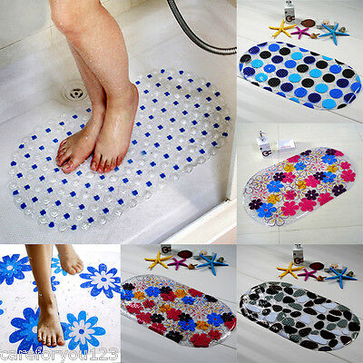 PVC Non Slip Shower Mat Bath Tub Mat Bathroom Floor Mat with Suction Cups Safety