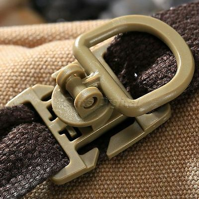 10 Rotation D-Ring Buckle MOLLE Sternum Strap System 18MM 25MM Webbing Tan color