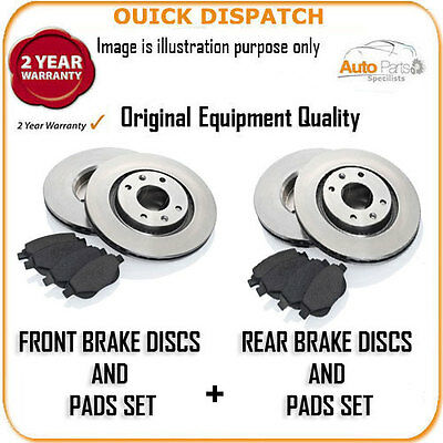13285 Front And Rear Brake Discs And Pads For Porsche Cayenne 3.0S Hybrid 5/2010