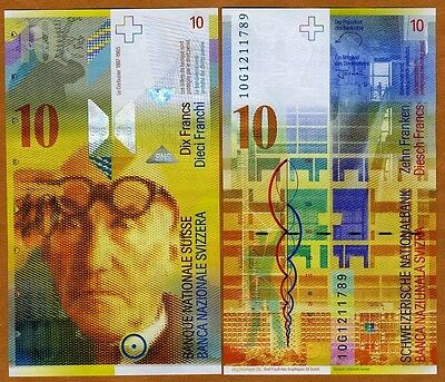 Switzerland, 10 Francs, 2010, Pick 67,  UNC