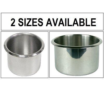 STAINLESS STEEL POKER TABLE CUP HOLDERS - 2 Sizes Available