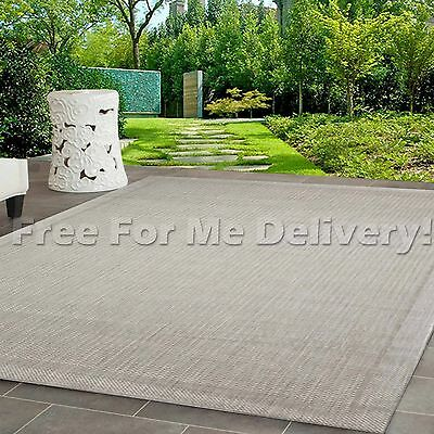 INDOOR/OUTDOOR SILVER PLAIN NON-SLIP RUG (M) 155x230cm **FREE DELIVERY**