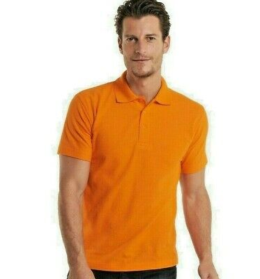 Uneek Mens Classic Polo Shirt Plain Short Sleeve Tee (UC101)