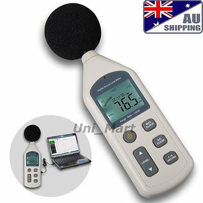 AU Ship Sound Pressure Level Meter 30 ~ 130 dB Decibel Noise Measurement Data
