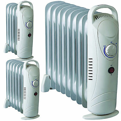 Portable 5/7/9 Fin 500/700/1000W Electric Oil Filled Radiator Heater Thermostat