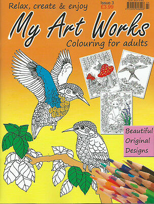 Relax With Art Works Colouring Book For Adults Issue 3 Therapeutic-Creative New