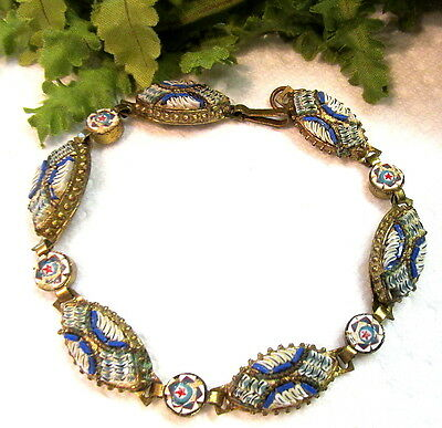 Gorgeous Antique Italian Micro Mosaic Bracelet #7