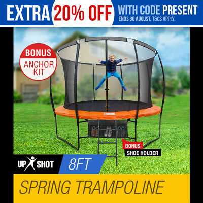 NEW 8ft Round Trampoline Enclosure Safety Net Mat+Spring Pad Cover+Ladder