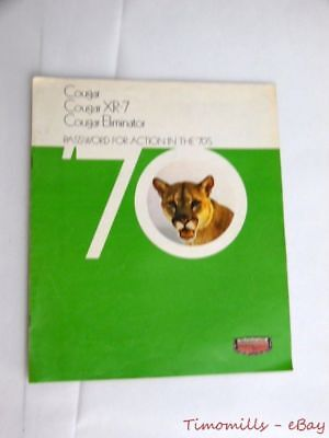 1970 Mercury Cougar Dealer Sales Brochure Catalog Eliminator Vintage ORIGINAL