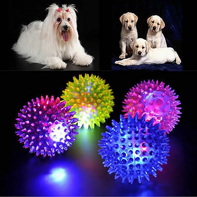 1Pcs Light-Up Spinny Balls Dog Cat Catch Ball LED Flashing Sensory Blinking Toy