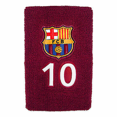 FC Barcelona Official Football Gift 1 Pack No.10 Messi Towelling Wristband