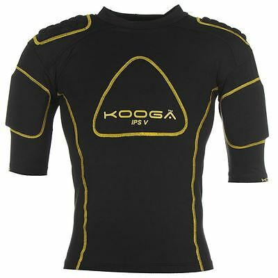 KOOGA IPS PRO V Mens Black Yellow Rugby Protection Body Armour Vest Top XXL BNWT