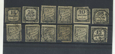 Lot 12 Timbres Postes France Taxe Anciens