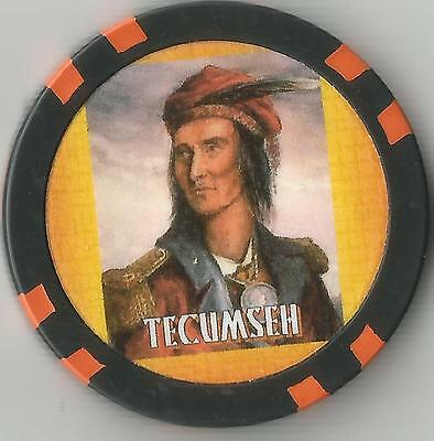 Tecumseh  Collector  Chip Leader Of Shawnee