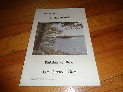Vintage Travel Guide for Freeport Maine