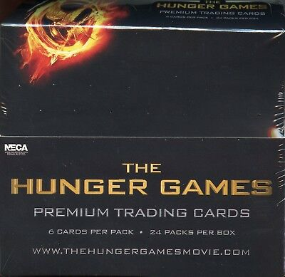 THE HUNGER GAMES Movie Card Wax Box 1 Sealed Box  Premium Trading Cards