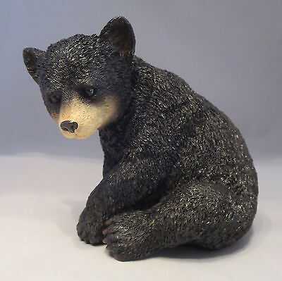 Black BEAR Sitting Figurine Sculpture NEW Statue Bears Wild Animals Wildlife