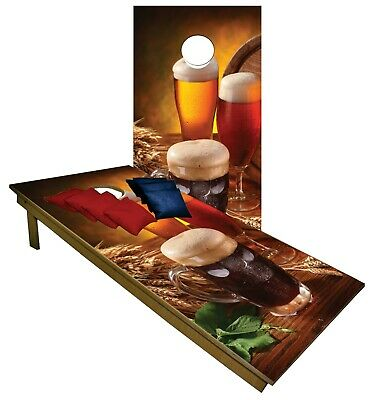Cornhole Boards BEANBAG TOSS GAME Variety of Beer Drinks w Bags Set 331