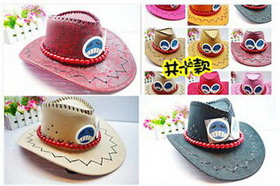 One piece Portgas D Ace Cosplay Hat Cap Costume Cowboy New Free Shipping DIRECT