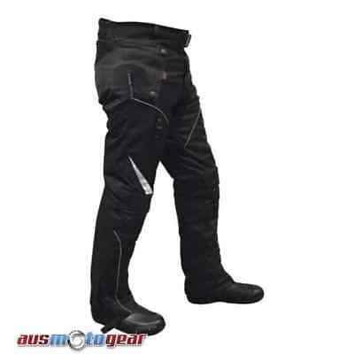 Motorbike Cordura Textile Pants black 100% Waterproof CE ARMOUR