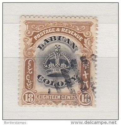 Labuan Colony 1902 18C SG125 Fine Used BC109