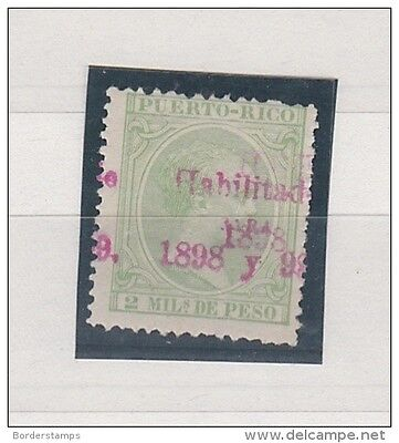 1895 2 mil d Pesq with 1898 Double Overprint BC187
