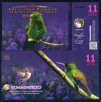 Atlantic Forest 11 Aves Dollars 2016 - Hummingbird