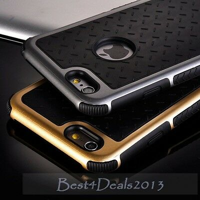 Shockproof Rubber Hybrid Fashion Hard Case Thin Cover For iPhone 5S 6 6S 7 Plus