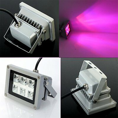 18W LED Plant Grow Flood Lamp Hydroponic Growing Light Blue 445nm Red 660n+Gift