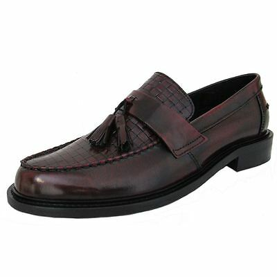 Ikon Weaver NEW SELECTA Mens MOD Ska RUDE BOY Polished Leather Tassle Loafer